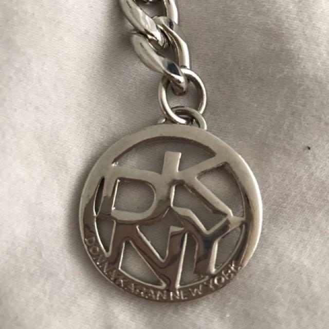 Donna Karan silver chain belt