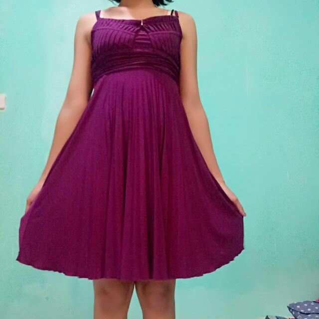 Dress purple anggun