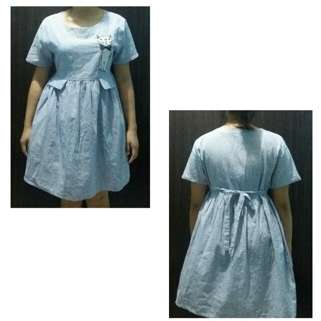 dress with patch