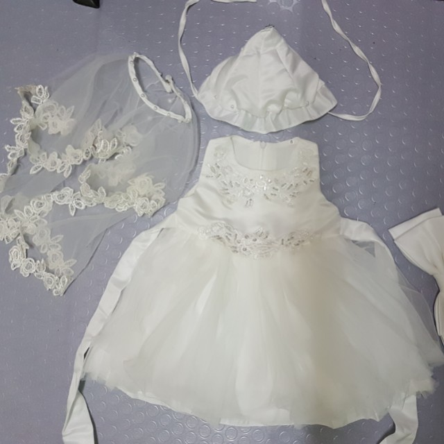 Elegant Little brides baptismal dress