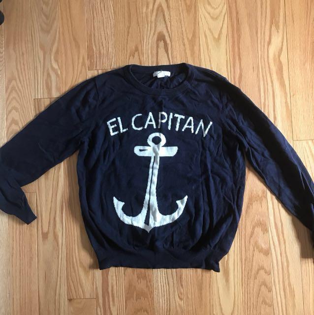 F21 Navy Sweater