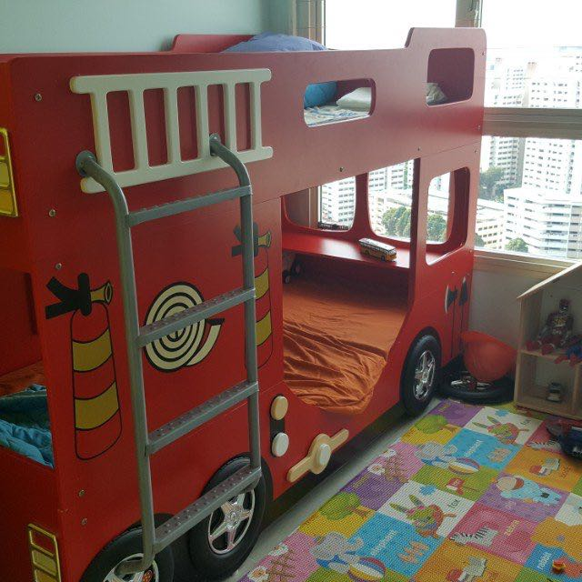 Fire Engine Bed Frame Furniture Beds Mattresses On Carousell