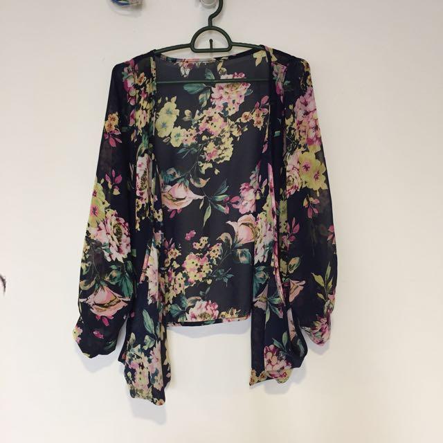 Floral Sheer Cardigan