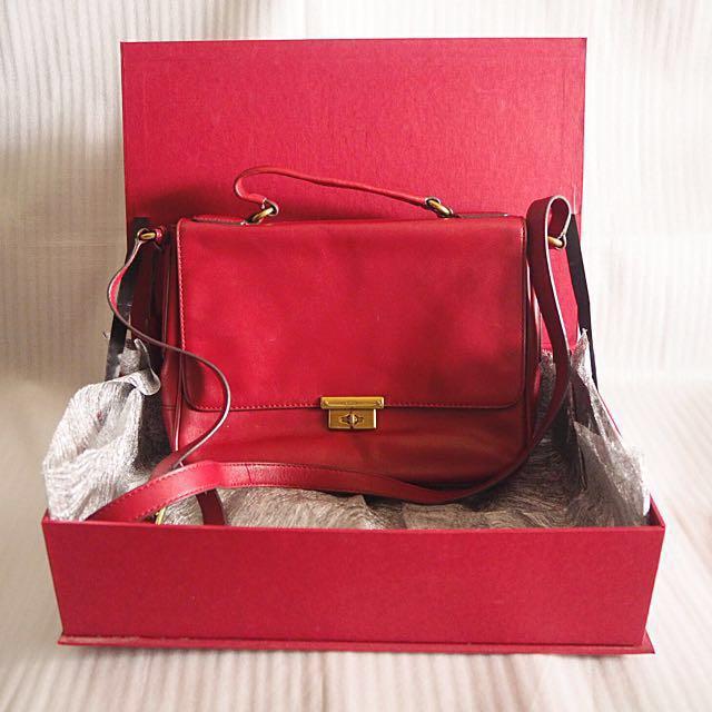 Fossil Red Crossbody Bag