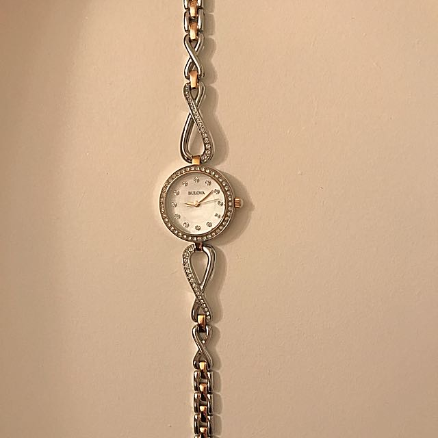 Gorgeous genuine  Bulova watch for women with rose gold detail