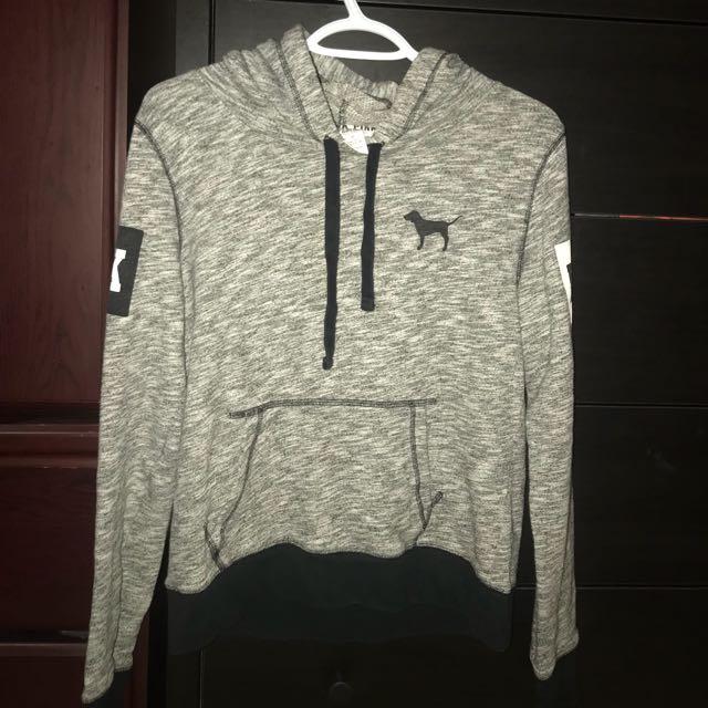 Grey PINK Victoria's Secret hoodie