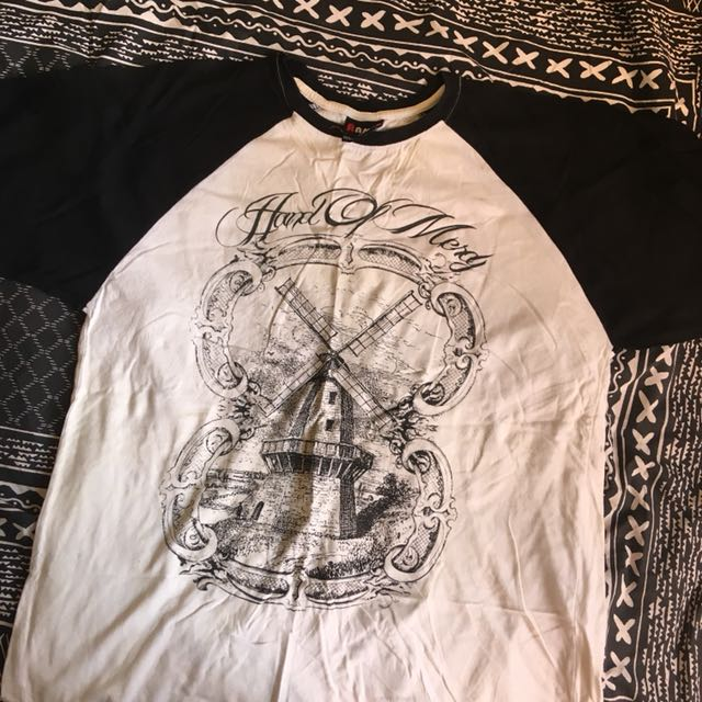 hand of mercy ringer style band merch t-shirt, men's size medium