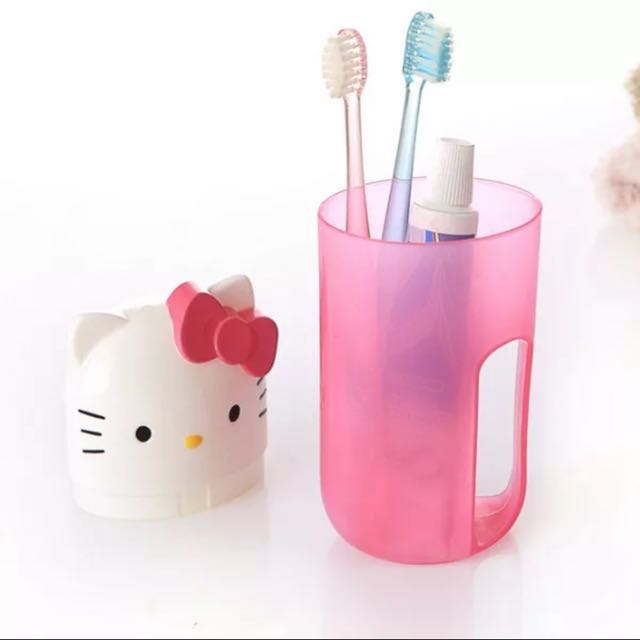 c67bde260 Hello kitty toothbrush holder, Babies & Kids on Carousell