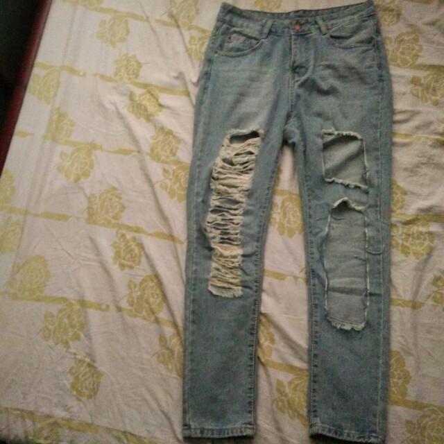 Highwaisted Boyfriend Jeans