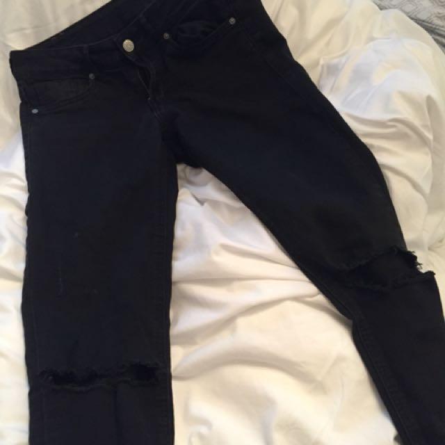H&M Ripped Knee Jeans