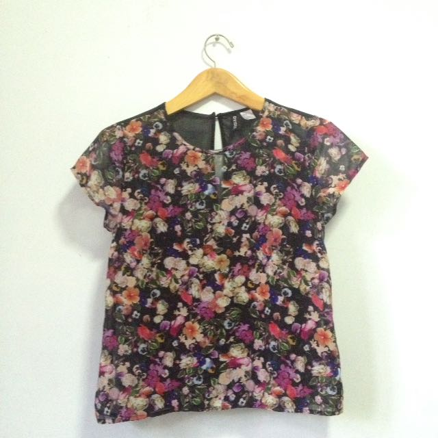 H&M transparent floral tops
