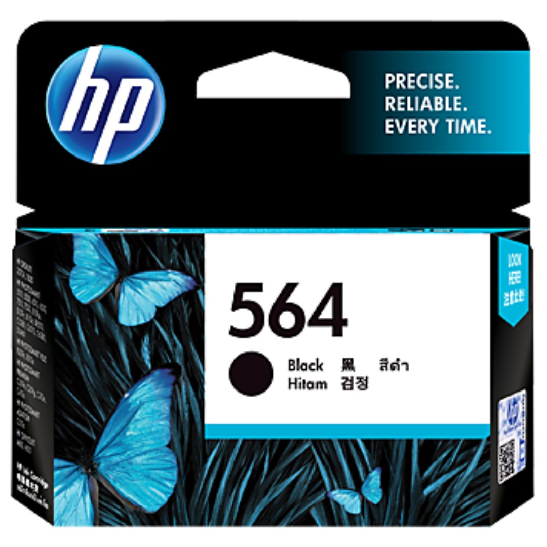 HP 564 BLACK ORIGINAL INK CARTRIDGE (CB316WA) photo black cyan yellow magenta