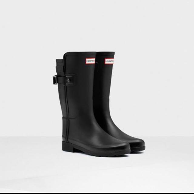 Hunter 雨鞋 霧黑 中筒 雨靴