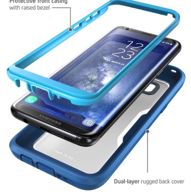 pretty nice 520e3 b059b i-Blason Galaxy S8 Plus Case, [Armorbox] [Full body] [Heavy Duty Protection  ] Shock Reduction / Bumper Case WITHOUT Screen Protector for Samsung ...