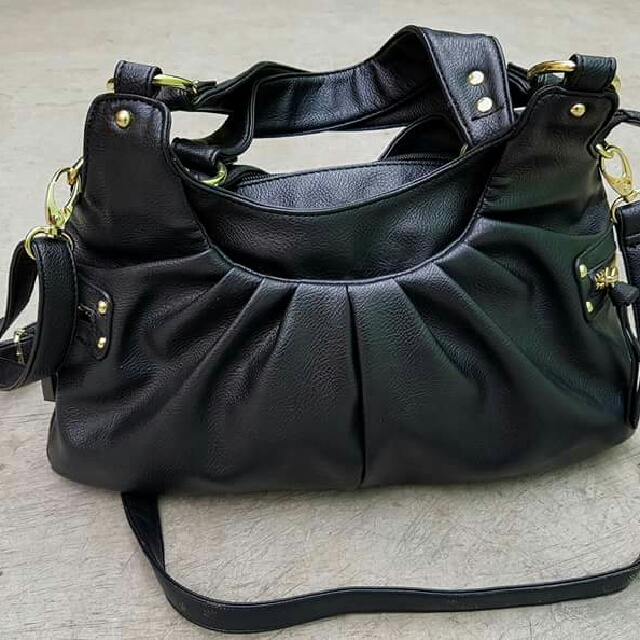 Imported leather two way bag