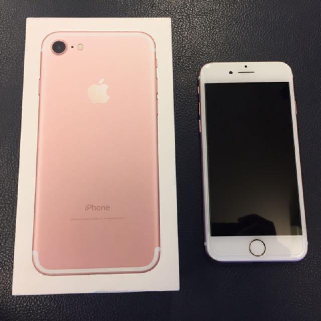iPhone7 256G 玫瑰金 超大容量 9成新
