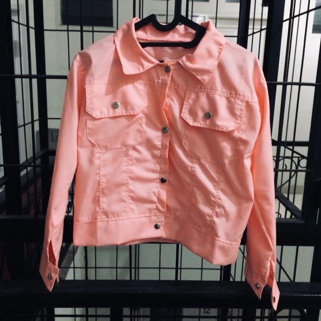 Jacket kanvas peach