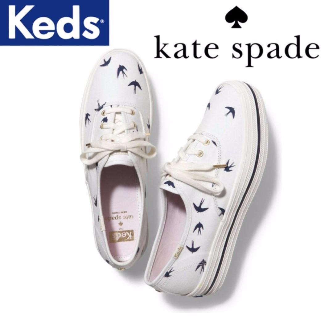 386712ebaa7c Keds x Kate Spade New York Champion Triple Bird Swallow Sneakers ...