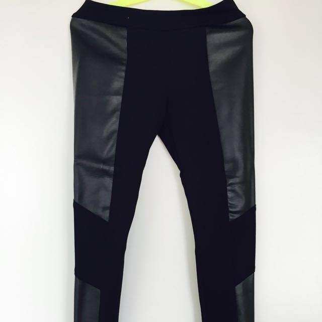 Leather Pattern Leggings