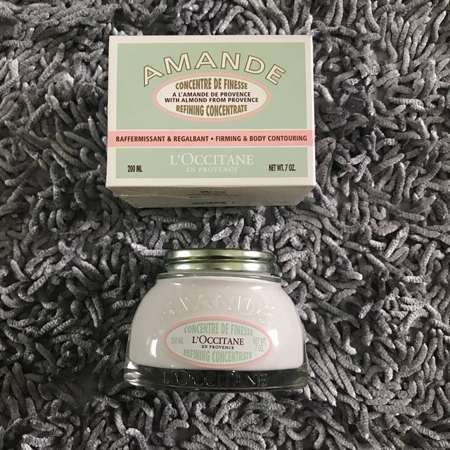 L'occitane amande body oil lotion almond firming milk concentrate