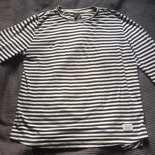 Long sleeve stripped Huffer shirt