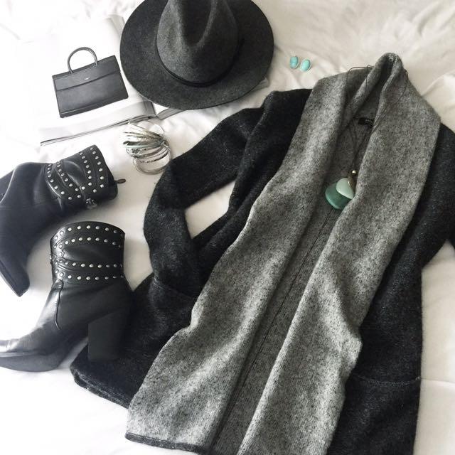 Long Sleeve Cashmere Wool Cardigan