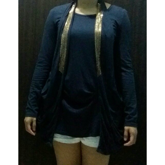 longsleeve w sleeveless cardigan top