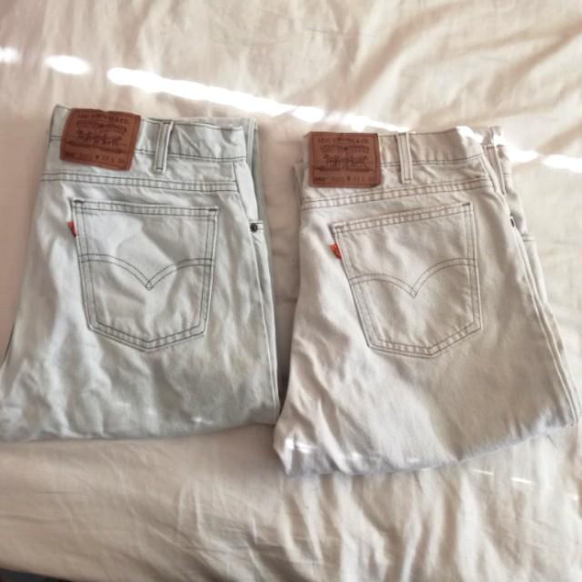 Mens 550 Levi Jeans