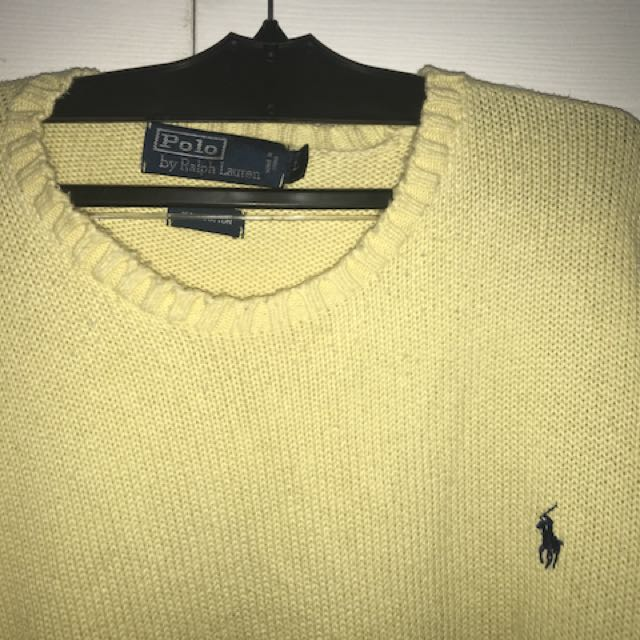 Men's used Ralph Lauren Knit Yellow Sweater
