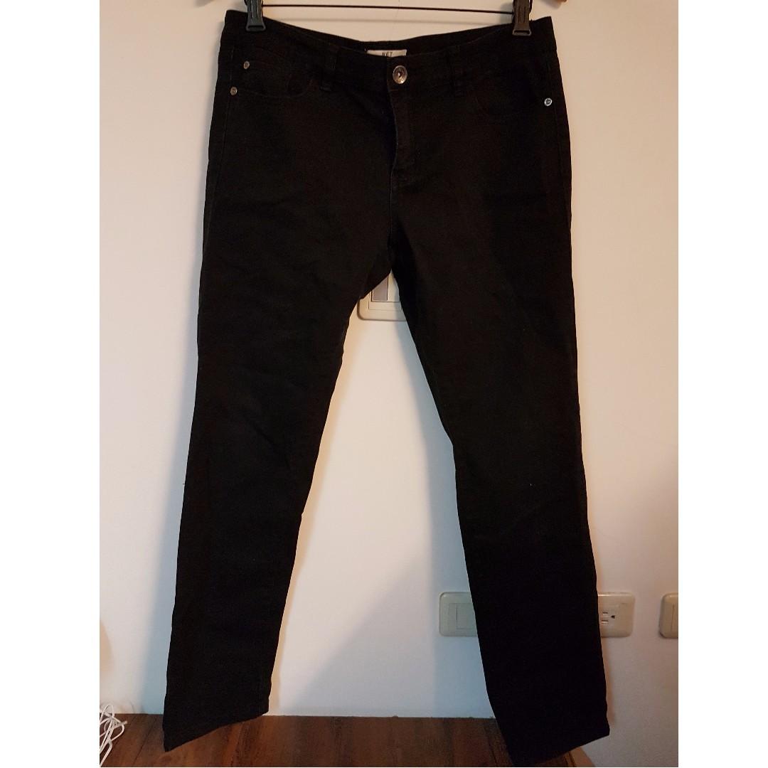 NET 黑色直筒牛仔褲 38號