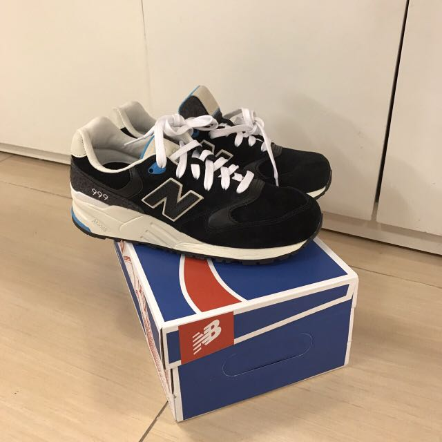 New balance 999 黑麂皮奶油底 24cm