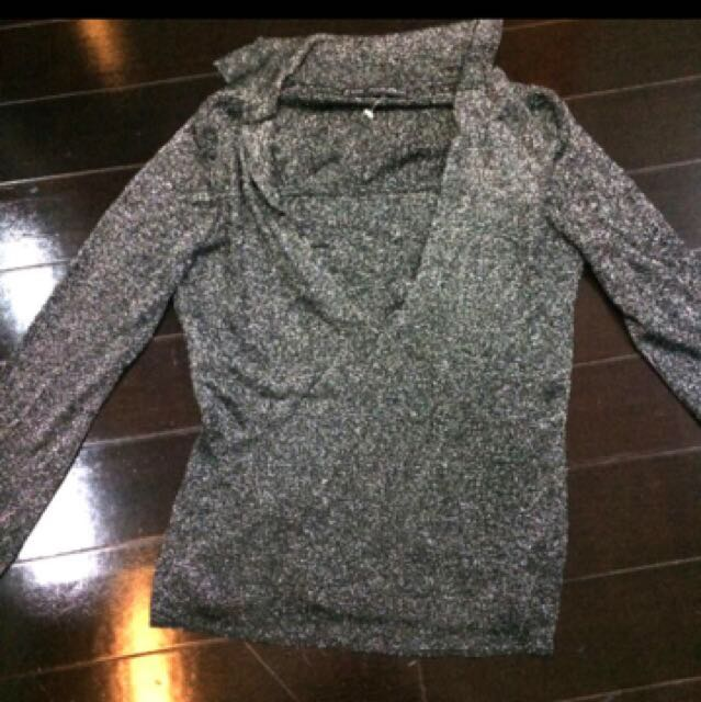 New silver top size small