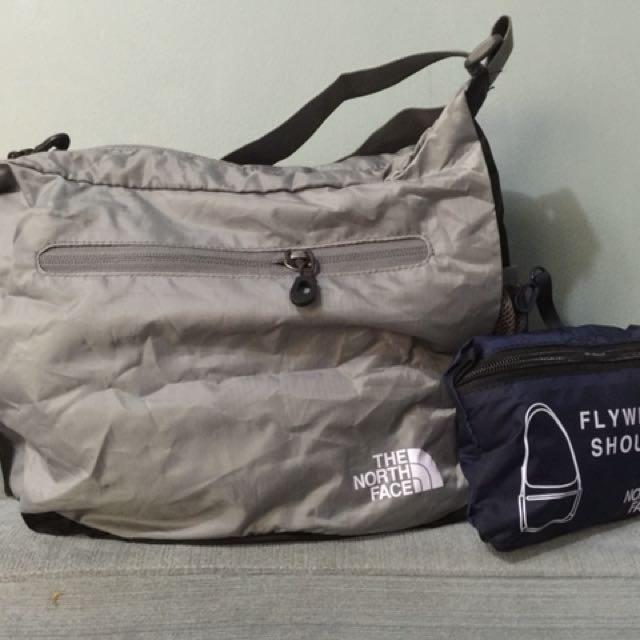 North face compact foldable bag