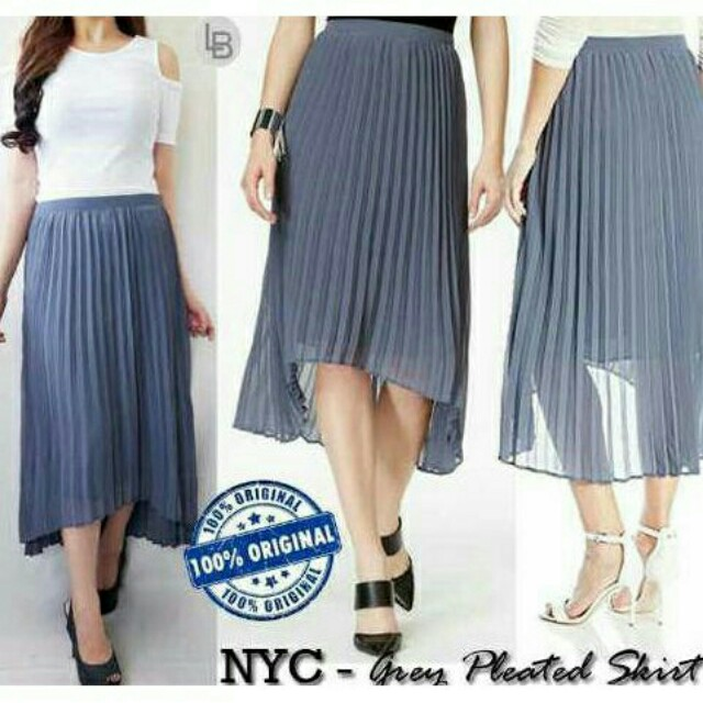 NYC Grey Plisket Skirt