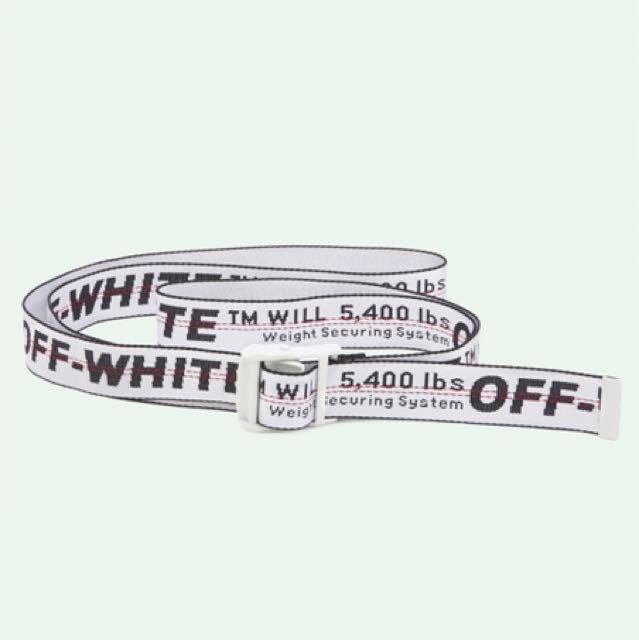 fb9df4e3889e Off White Industrial Belt Silver