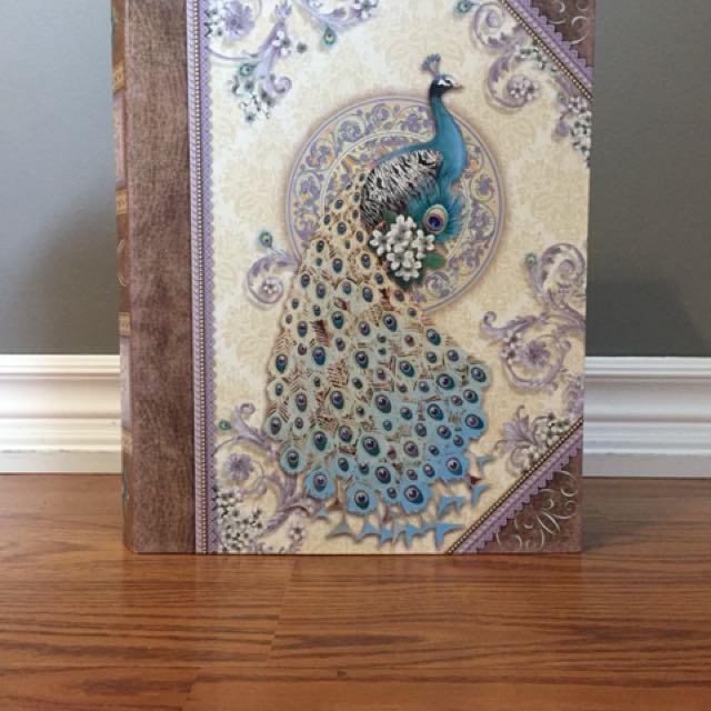 Peacock book box