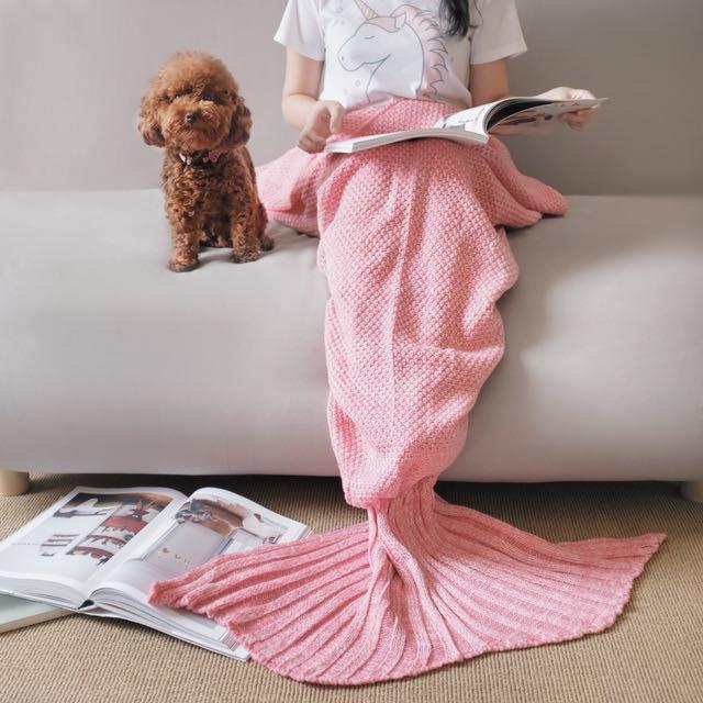 Pink Mermaid Blanket / Selimut Mermaid