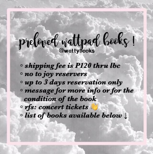 PRELOVED WATTPAD BOOKS