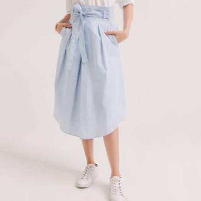 Promod Midi length Stripes Skirt