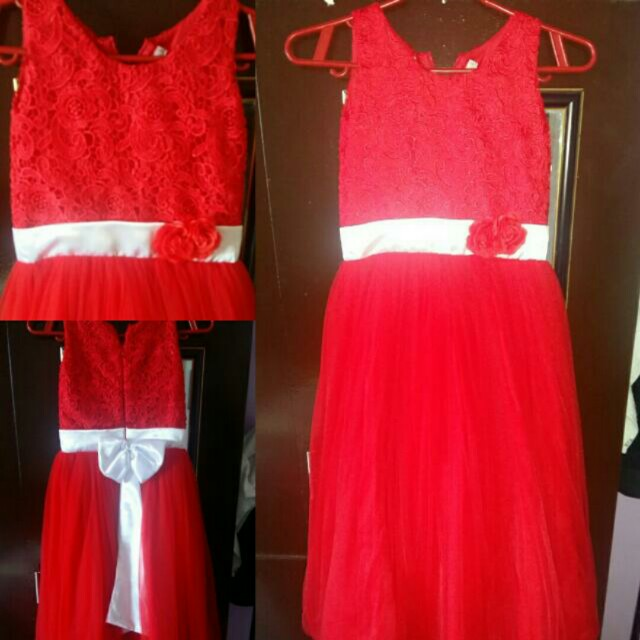 Red gown for kids