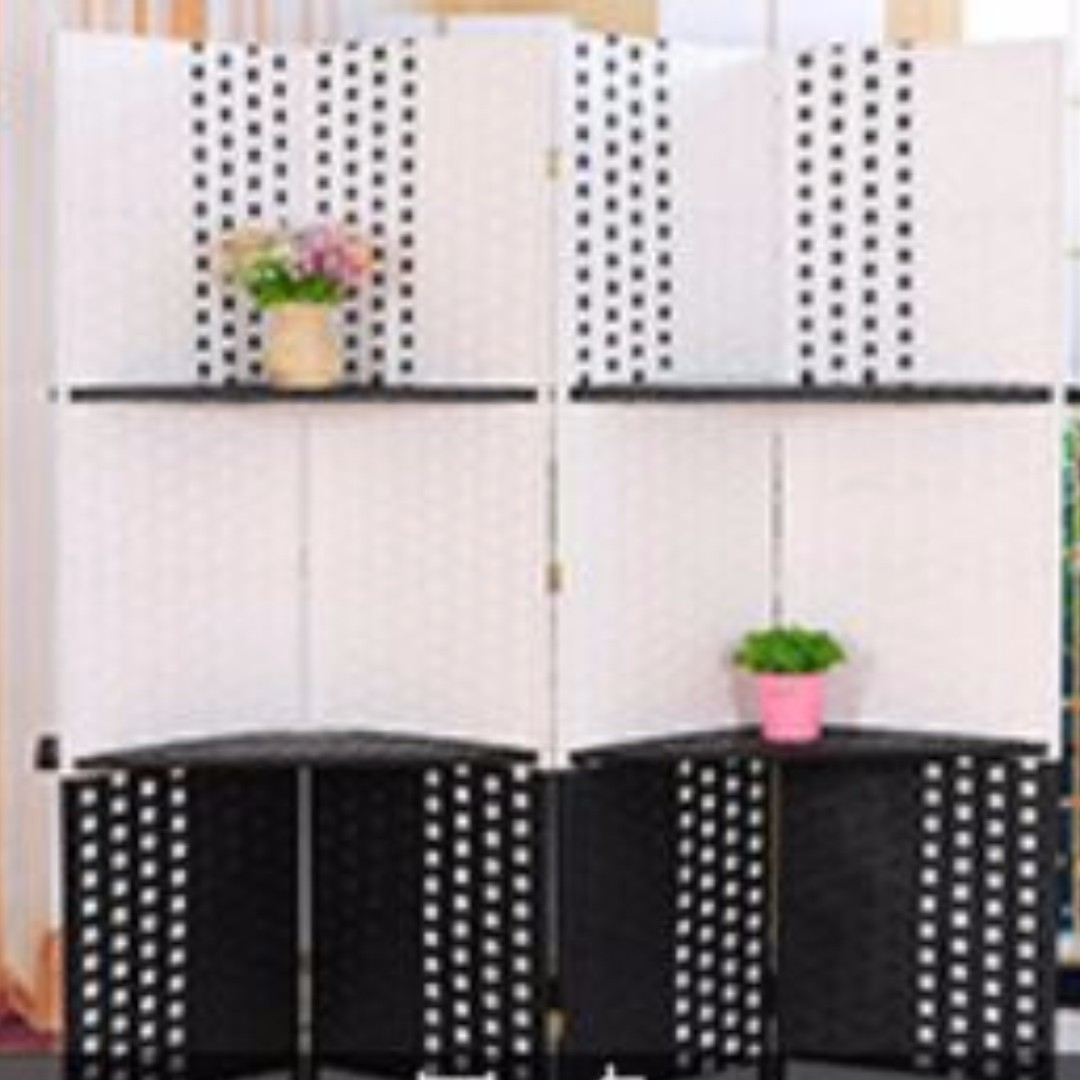 Room divider Partition Clearance 4 panels per set with Shelf