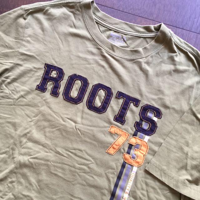 正品Roots 男T-shirt
