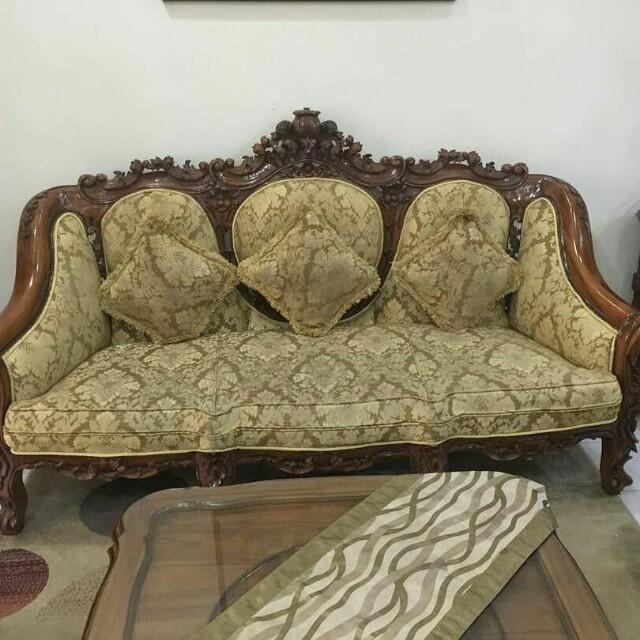 Set Sofa Jati Home Furniture Furniture On Carousell