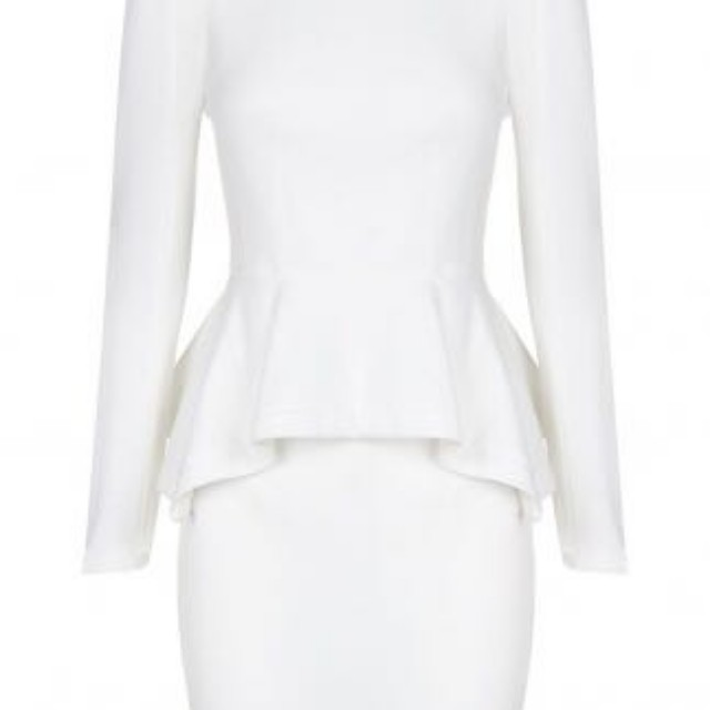 Sheike fallen angel dress peplum white size 6