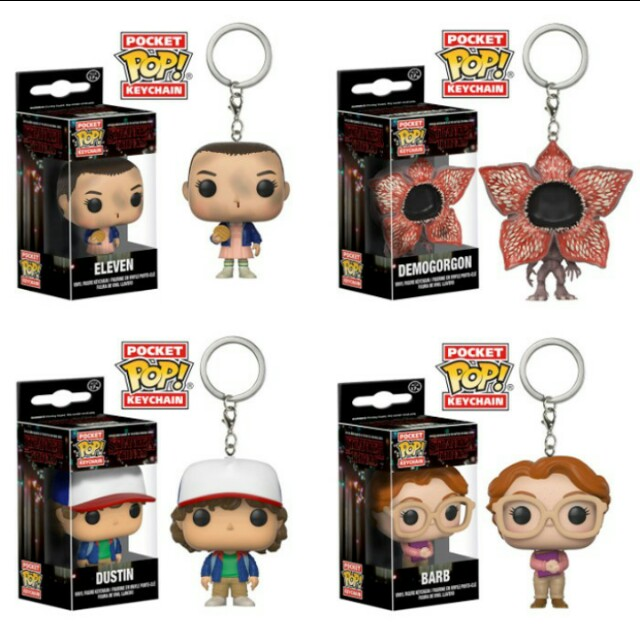 Stranger things funko pop mini keychain