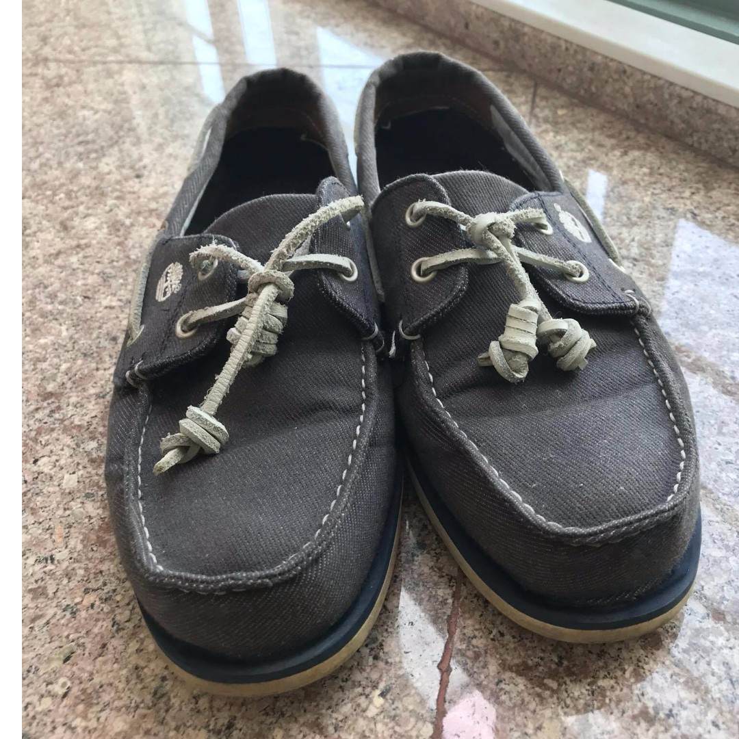 Timberland Denim Blue Gray Casual And Classic Boat Shoes Non
