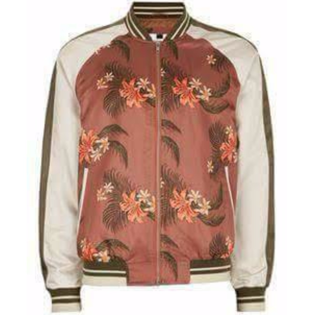 ORIGINAL DISCOUTED TOPSHOP FLORAL BOMBER JACKET