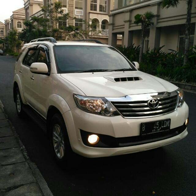 Toyota Fortuner 2.5G VNT Turbo 2013AT Putih Siap di Gas