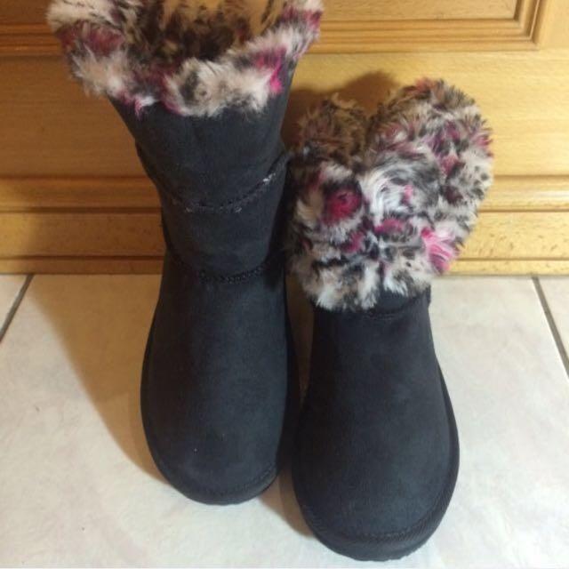 (含運+降價)VANS 黑色內裡豹紋雪靴#交換最划算