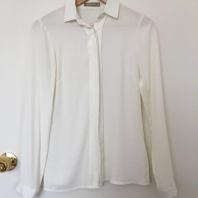White Collar Blouse Q